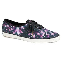 Keds Womens Champion Frost Floral Fashion Sneaker Black 7.5 M US