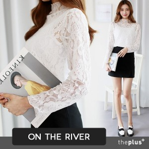 ★ontheriver★ SUPER SALE!! ★ Whole Lace Blouse / Feminine / High Quality / Korean Style /