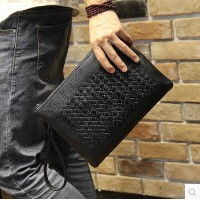 Handmade Mens Handbag Handbag Soft Bag Wrist Bag Envelope Bag Large Capacity Hand Bag