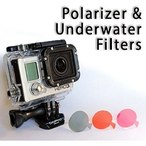 The Accessory Pro Polarizer and Underwater Dive Filters compatible with all GoPro Hero4 Hero3+...