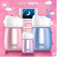 Cute lady portable stainless steel cup