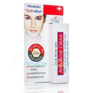 New!! VINCERE VIN21 4 Zinc Anti-Acne Cream -10ml.
