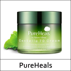 [PureHeals] Centella 70 Cream 70ml / Centella Asiatica Extract / Soothing + Whitening + Anti-wrinkle