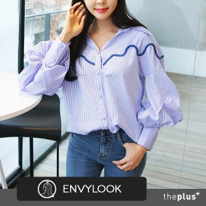 SUPER SALE ★EnvyLook★ NEW ITEM ★ High Quality Puff Sleeve Blouse / Unique Design / Feminine / Good...