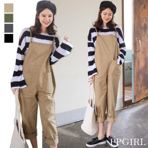 送料 0円★PPGIRL_9436 Dandy overall pants / jumpsuit / layered pants / casual slacks /