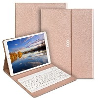 Coo Ipad Pro Keyboard Case 12.9&quot Pu Leather Auto Wake / Sleep Smart Case with Bluetooth Keyboard
