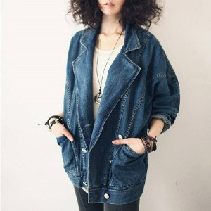 Tailored mereubil cheongjaket / Merville tailored with a denim jacket / Blue / Woman / Cotton 100%