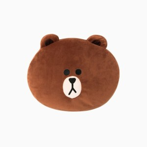 [NEW] LINE FRIENDS STORE OFFICIAL GOODS : Brown Soft Cushion (32cm)