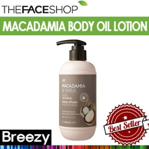 BREEZY ★ [THE FACE SHOP] マカダミア&シェアボディオイルローション MACADAMIA SHEA BODY OIL LOTION 300ml