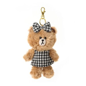 Line Friends Store Official Check One-Piece Choco Bag Charm Doll (17cm)