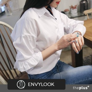 ★ envylook ★ SUPER SALE!! ★ Frill Point Sleeve Shirts / High Quality / Korean Fashion / Feminine /