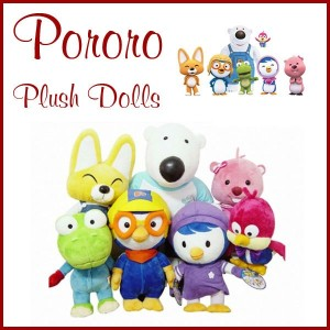 Pororo and Friends Plush Dolls/  Rag doll 28cm~ 44cm/ Soft Toys - 7 Characters/ Petti Loopy Harry...
