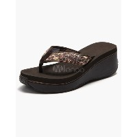 Sequined Thong Toe Woman s Beach Sandals