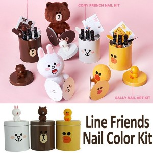 ★Made in Korea MISSHA★Line Friends Nail Color Kit/Brown/CONY French/SALLY/Nail Art/Free Gift