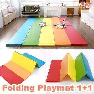 ★1+1 Play Mat★PlayBEBE Korea Premium playmat 1+1/Folding mattress/baby and kids safety mat/Playgym...