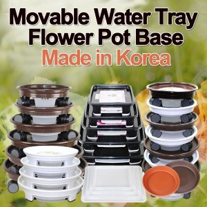 Movable Water Tray Flower Pot Base★Heavy Pots! Easy to move★High Quality Made in Korea★Flowerpot...