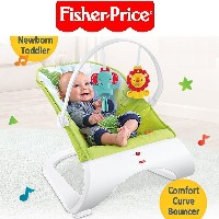 [Fisher Price] New Comfort Curve Bouncer Rainforest Friends/Newborn-to-Toddler Portable Rocker★Baby...