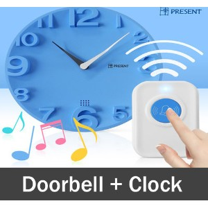 ★Christmas Gift Idea★ ★2016 New Version★ Doorbell Clock/30m Wireless Range/20 kinds of Ringtones/3D...