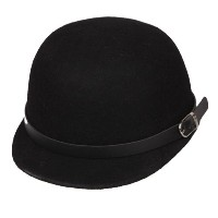 [アメリカ直送]Bigood Women Cashmere Buckle Band Bowler Riding Cloche Equestrian Beret Hat