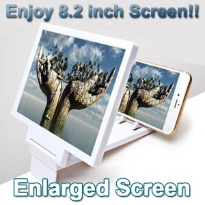 8.2 inch Enlarged Screen★Mobile Phones Zoom Magnifying Glass★Enjoy 3D Movie by Large Screen...