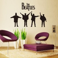 [アメリカ直送]MZY LLC (TM) The Beatles Wall Sticker Home Decals Vinyl Wall Art Quote Deco Decor Mural...
