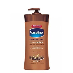 [アメリカ直送]Vaseline Total Moisture Cocoa Radiant Body Lotion 20.3 oz Bottle (Pack of 3)