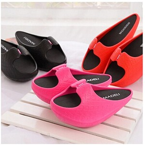 Diet word drag drag fashion shoes shook slope with heavy-bottomed shoes negative heel ladies...