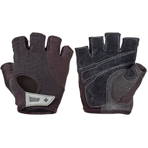 Harbinger Womens Power Weightlifting Gloves with StretchBack Mesh and Leather Palm (Pair)