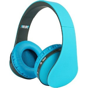 iEazy Foldable Wireless Built in Mic Bluetooth Headphone Blue
