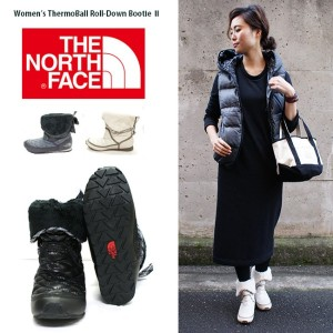 【THE NORTH FACE】ザ・ノースフェイス #cm88 【Women s ThermoBall Roll-Down BootieⅡ】防水性、保温性◎のスノーブーツ★/レディース ブーツ...