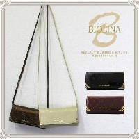 BIOLINA(ビオリナ)お財布ショルダー お財布ポシェットウォレットショルダー レディース  エナメル  ショルダー付き 長財布 ショルダー スマホ収納 レザー 人気 送料無料 プレゼント