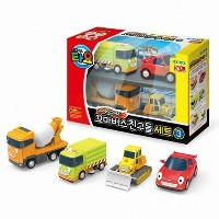 Little Bus TAYO FRIENDS Special Mini 4 Pcs Toy Set NO.3 (Ruby + Chris + Speed + Billy)