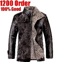 New Winter Male Fur Stand Collar Thickening And Wool Windbreak Waterproof Lether Jackets Leather...