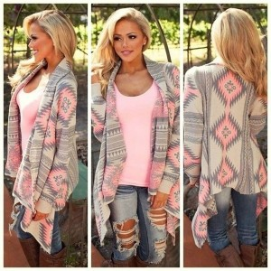 Fashion Women Casual Long Sleeve Knitwear Cardigan Loose Irregular Outerwear Tops