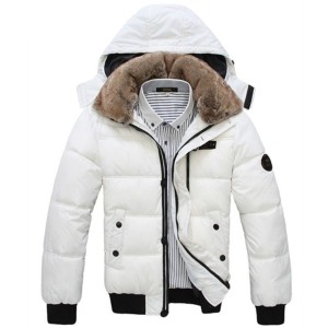 2016 Black White Man s Winter Warm Cotton patted Hooded Coat
