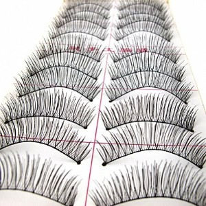 Nails gaga 10 Pairs attractive Black Stems False Eyelashes Criss-Cross Makeup Eye Lashes