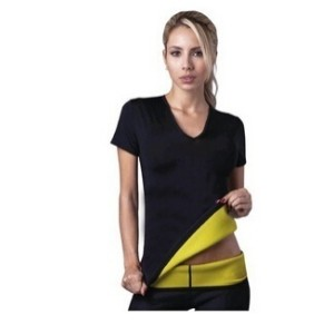 2015 New product with logo Hot Shapers neotex T shirt Hot Shapers Stretch Neoprene Slimming Vest...