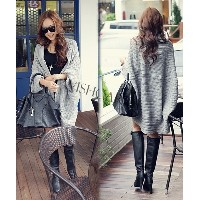 Lady Batwing Loose Sweater Coat Knitting Long Cardigan Shawl Outwear 17626