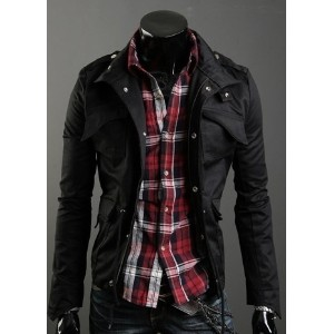Autumn Korean Men Stand Collar Jacket