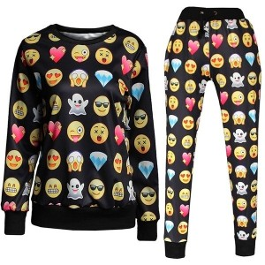 Clothing Set Emoji Joggers 3D Print Emoji Outfit Unisex Shirt Women Tracksuits Men Sports Suits Hip...