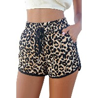 Leopard Printed Shorts (Brown)