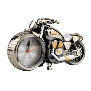 Motorcycle Motorbike Pattern Alarm Clock Creative Home BirthdayGift Cool Clock