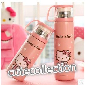 Hello Kitty hello kitty cute mug stainless steel vacuum thermos childrens cup male and female...