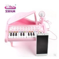 Polaroid children Tong Chaomeng multifunction small piano with a microphone early childhood music...