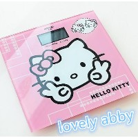Kawaii Hello Kitty Toughened Glass Health scale digital Bathroom electronic scales 180kg Electronic...