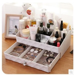 Korean cosmetic plastic storage box drawer dresser skincare jewelry box Desktop tuba
