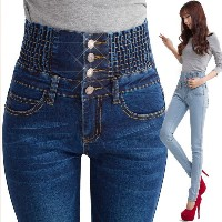 Sexy Hot Women High Waist Skinny Jeans Denim Jeans Slim Casual Long Pencil Pants