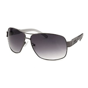 Guess Gu6747-Gun-35A Mens Aviator Gunmetal And Grey Gradient Lenses Sunglasses