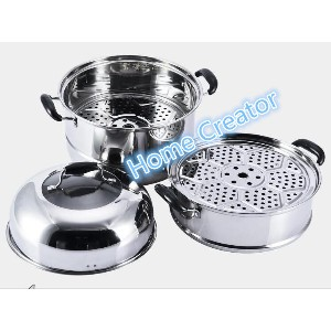 (36cm)304 stainless steel steamer steamer at Layer thick double bottom pot cooker with Layer 2/3 30...