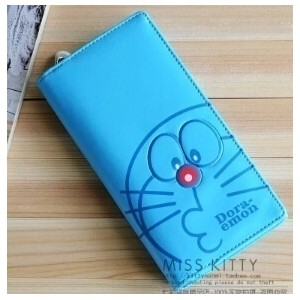 Pure classic duo a dream Doraemon Doraemon cat ladys long wallet purse A Dream